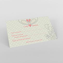 Carton réponse mariage Arabesque