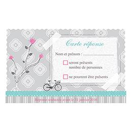 Carton réponse mariage Birdy  pas cher