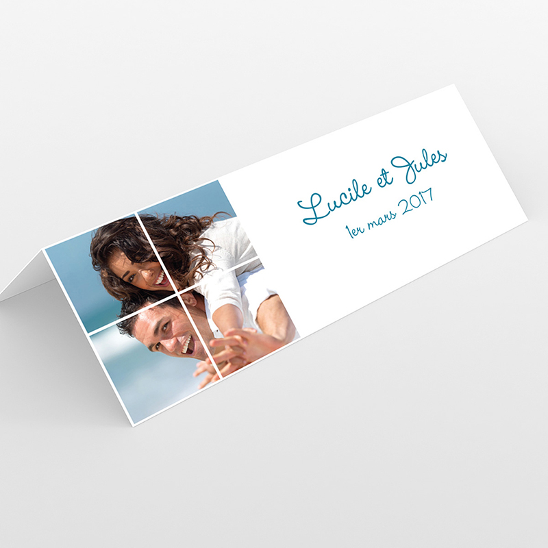 Marque-place mariage Rectangle photos vierges
