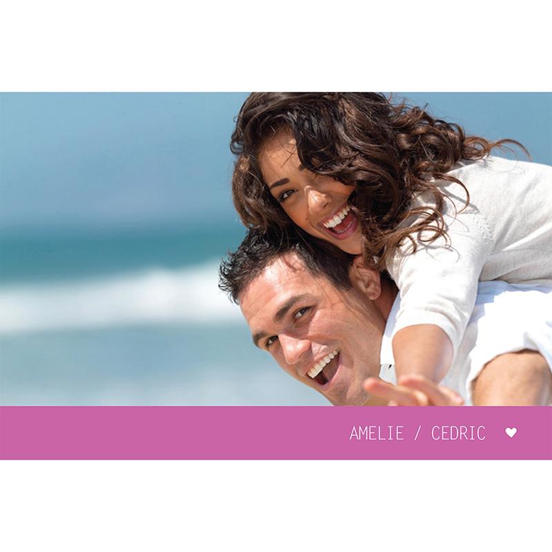 Carte anniversaire de mariage Voyage rose pas cher
