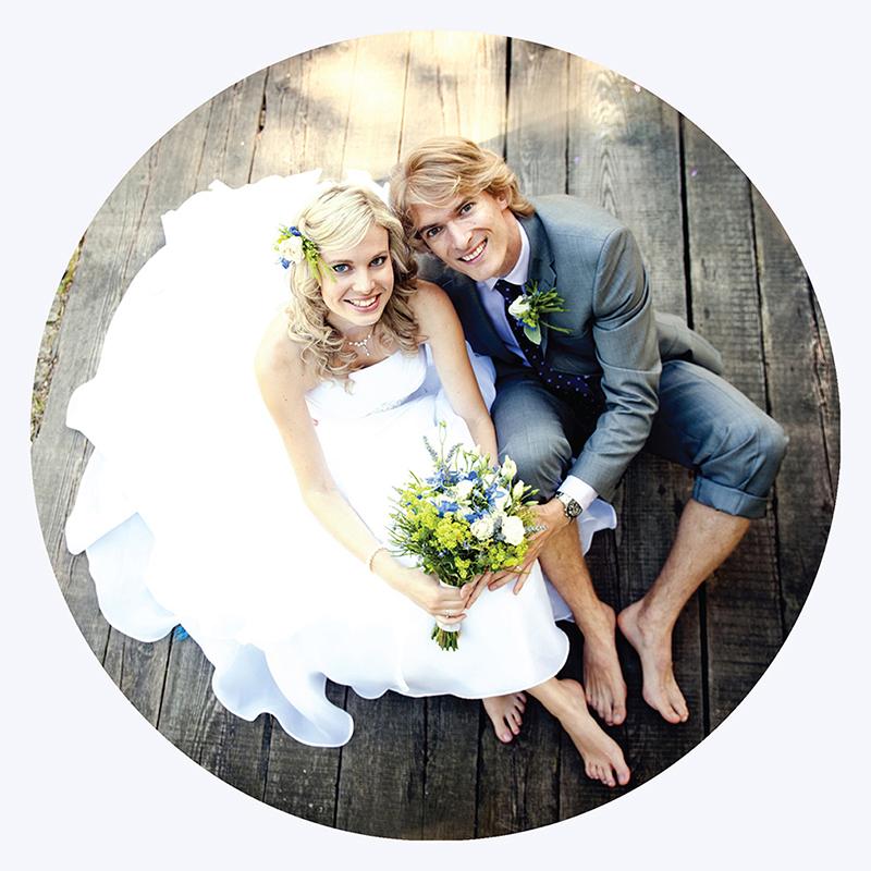 Carte de remerciement mariage Tendance ardoise  gratuit