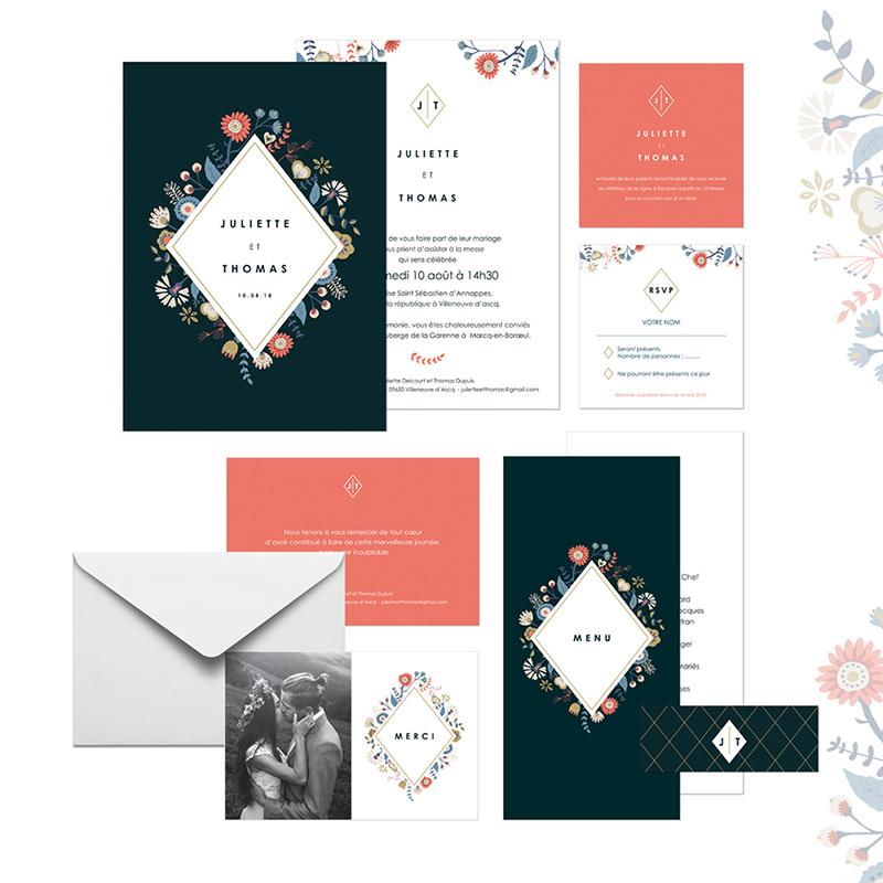 Carte d'invitation mariage Rhapsody gratuit