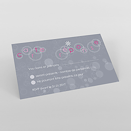 Carton réponse mariage Bulles