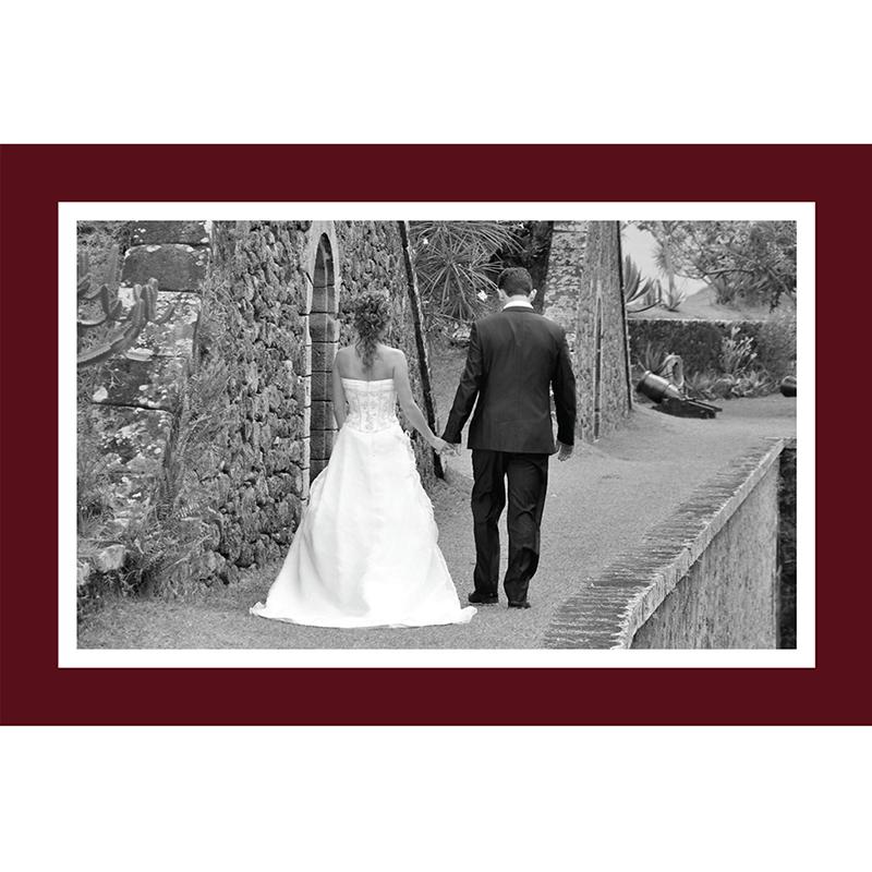 Carte de remerciement mariage Idylle bordeaux gratuit