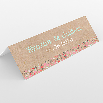 Marque-place mariage Liberty chic