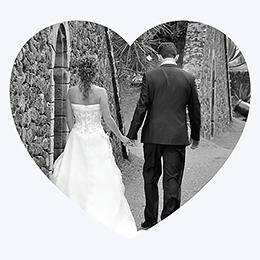 Carte de remerciement mariage Mariage ivoire coeur gratuit