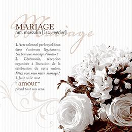Faire-part de mariage Bouquet  pas cher