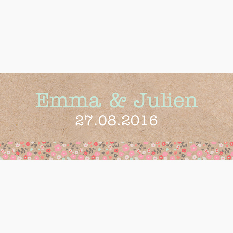 Marque-place mariage Liberty chic  pas cher