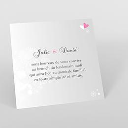 Carte d'invitation mariage Youpi gris tryptique