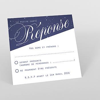 Carton réponse mariage Nuit étoilée