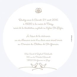 Faire-part de mariage Idylle beige gratuit
