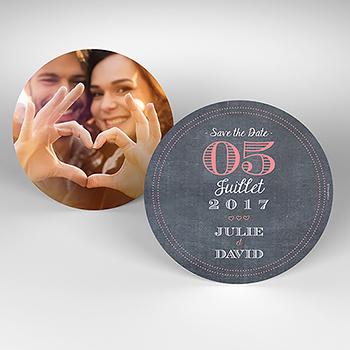 Save-the-date mariage Tendance ardoise
