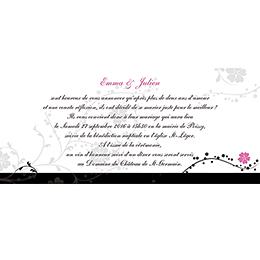 Faire-part de mariage Nuptial noir