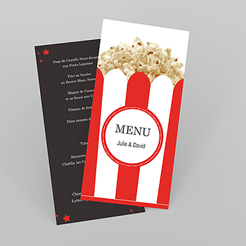 Menu mariage Cinéma