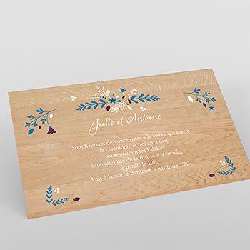 Carte d'invitation mariage Bois Fleuri