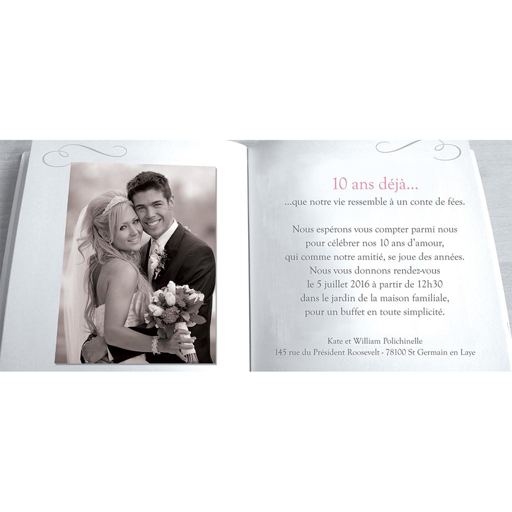 Carte anniversaire de mariage Il était une fois gris gratuit