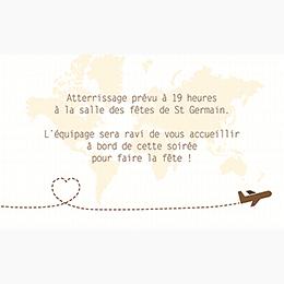 Carte d'invitation mariage Voyage chocolat pas cher
