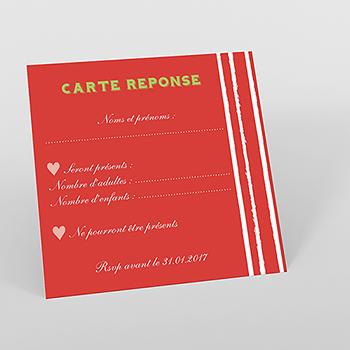 Carton réponse mariage Gourmandise