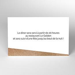 Carte d'invitation mariage Golden Rose