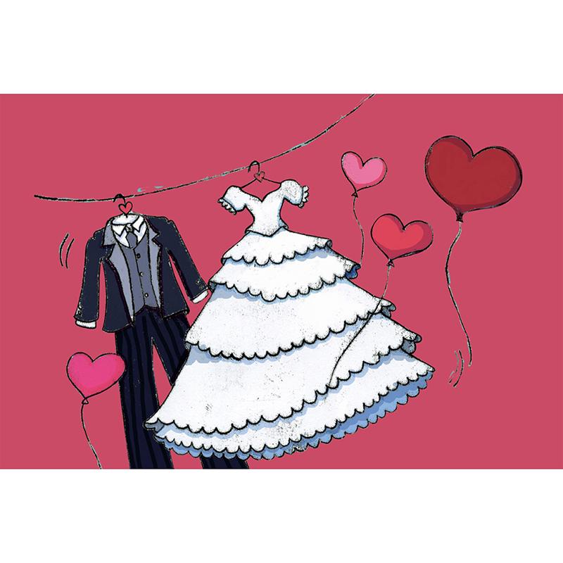 Faire-part de mariage Union rouge pas cher
