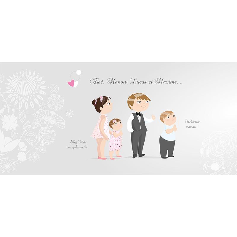 Faire-part de mariage Youpi gris panoramique gratuit