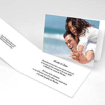 Faire-part de mariage Rectangle photos vierges