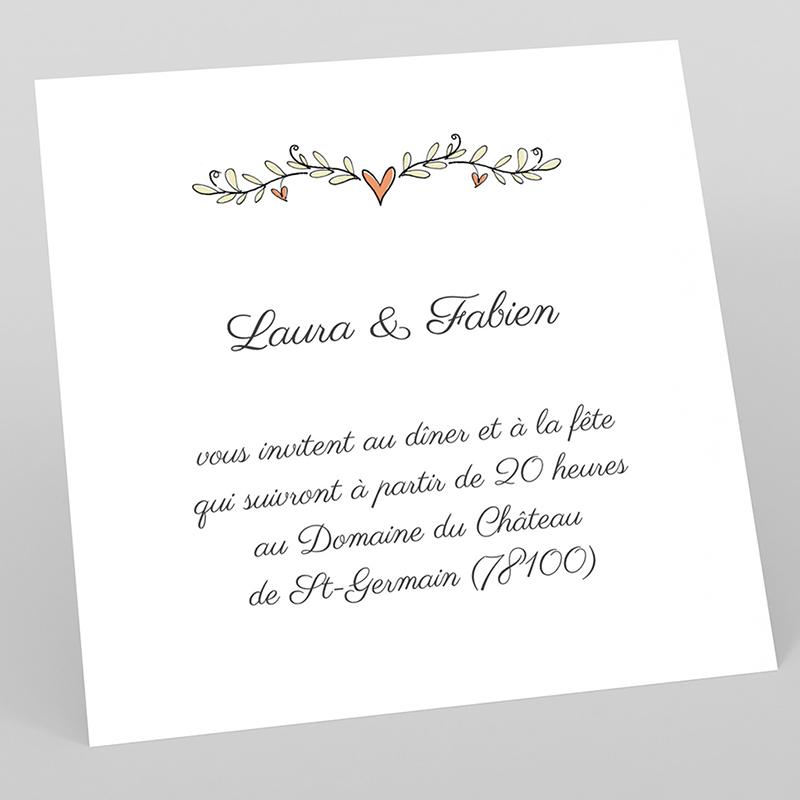 Carte d'invitation mariage Les Amoureux