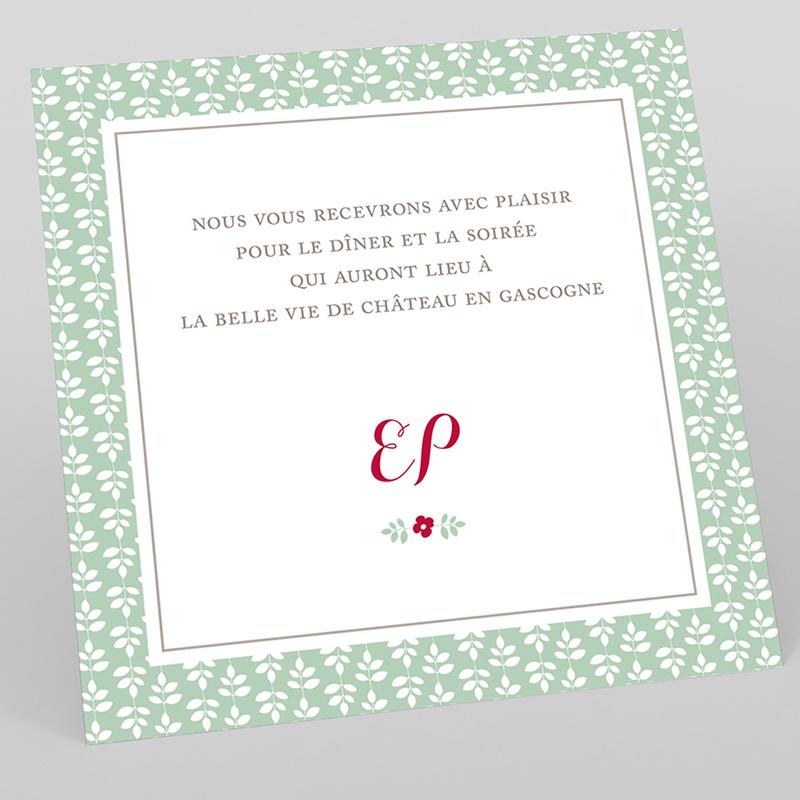 Carte d'invitation mariage Rose Chic