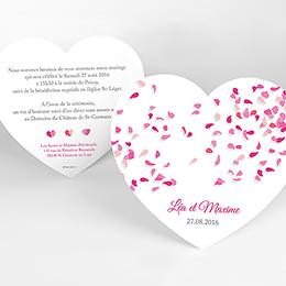 Faire-part de mariage Pétales rose