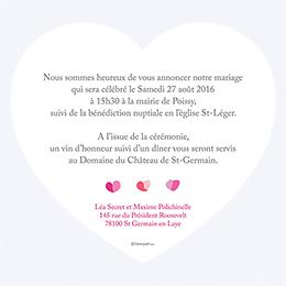 Faire-part de mariage Pétales rose gratuit