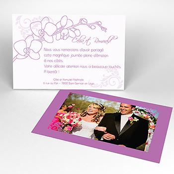 Carte de remerciement mariage Orchidées