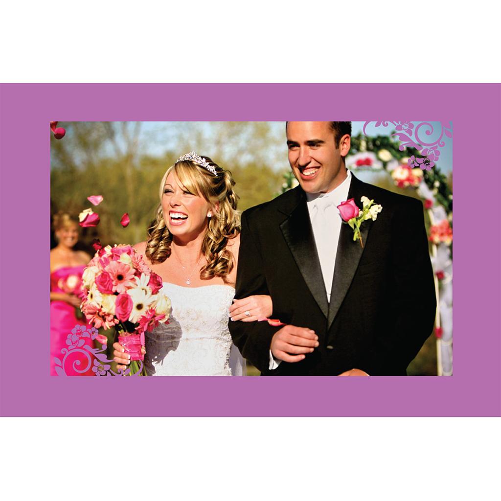 Carte de remerciement mariage Orchidées  gratuit