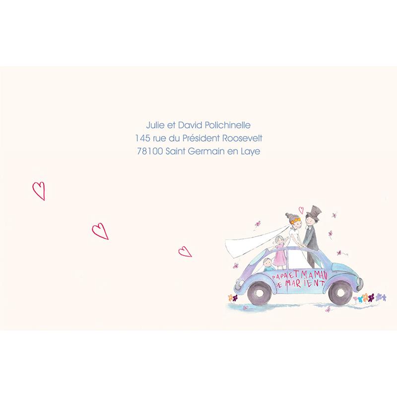 Faire-part de mariage La Coccinelle  gratuit
