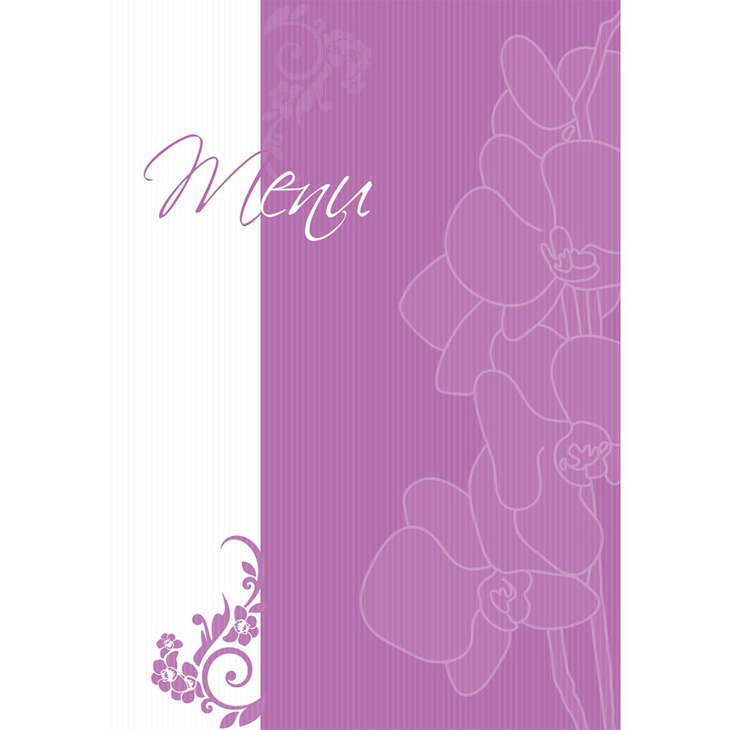 Menu mariage Orchidées  pas cher