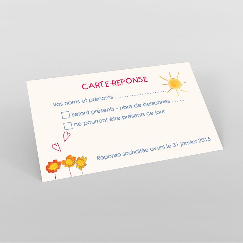 Carton réponse mariage La Coccinelle