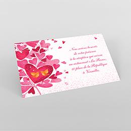 Carte d'invitation mariage L'Envolée