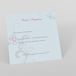 Carton réponse mariage Volutes
