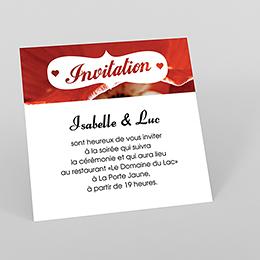 Carte d'invitation mariage A notre image carré