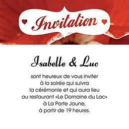Carte d'invitation mariage A notre image carré pas cher