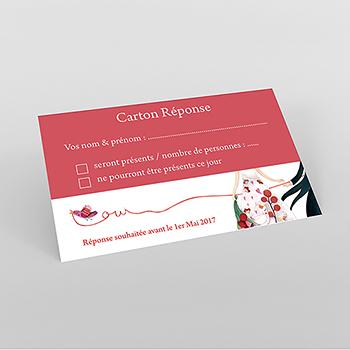 Carton réponse mariage Ode à l'amour