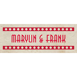 Marque-place mariage Cinéma Vintage  pas cher
