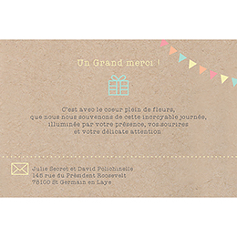 Carte de remerciement mariage Pretty love story  gratuit