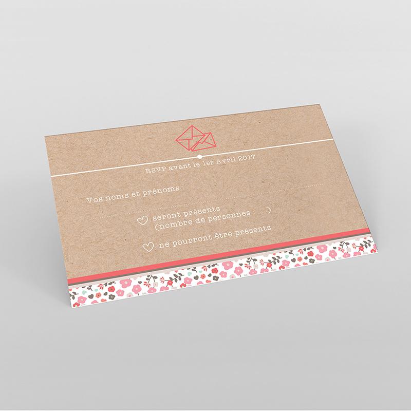 Carton réponse mariage Liberty