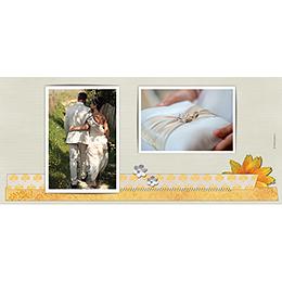 Carte de remerciement mariage Scrap'jaune  gratuit