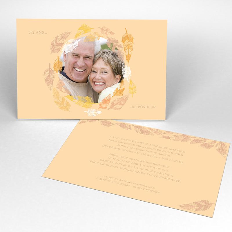 Carte anniversaire de mariage Vent d'automne