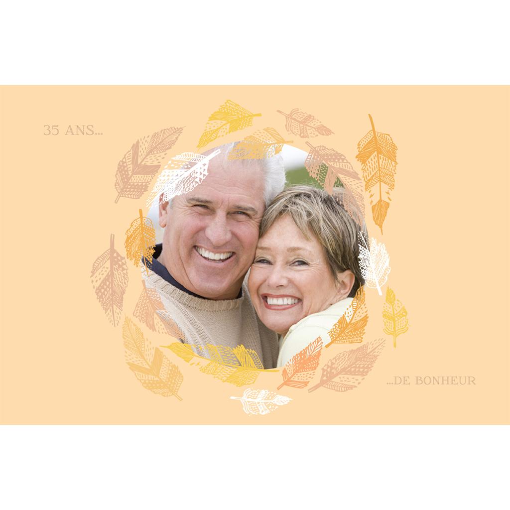 Carte anniversaire de mariage Vent d'automne  pas cher