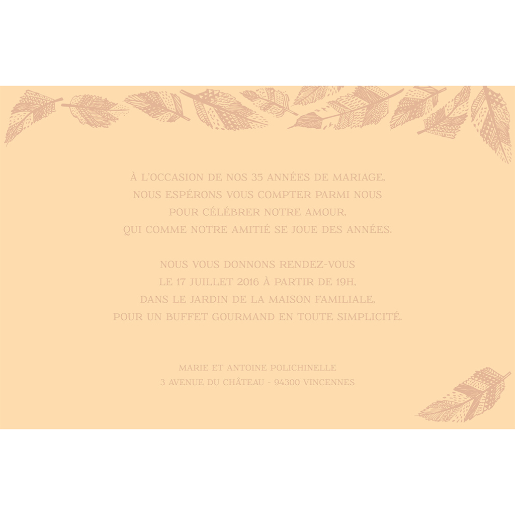 Carte anniversaire de mariage Vent d'automne  gratuit