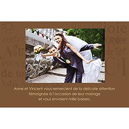 Carte de remerciement mariage Jeu de mots chocolat gratuit