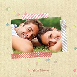 Faire-part de mariage Confettis  gratuit