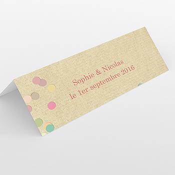 Marque-place mariage Confettis
